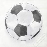 Papírové party ubrousky Fotbal