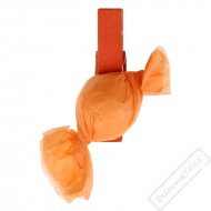 Dekorační kolíček s Bonbónem oranžový