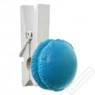 Dekorační kolíček  s makronkou modrý