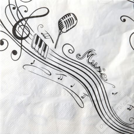 Papírové party ubrousky Music