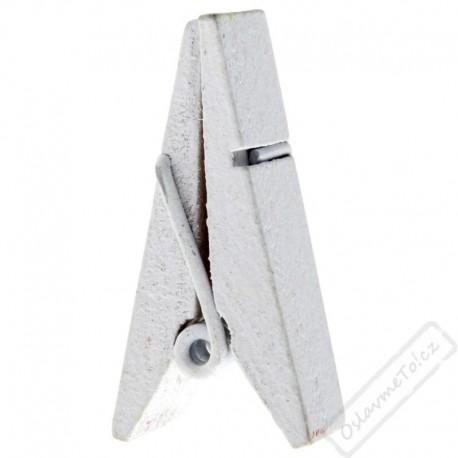 Dekorační pyramidový kolíček bílý