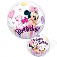 Nafukovací balón bublina Minnie 1 rok