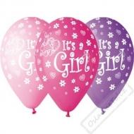 Latexové balónky s potiskem It's a Girl