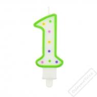 Narozeninová svíčka na dort číslo 1