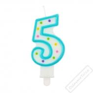 Narozeninová svíčka na dort číslo 5