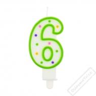 Narozeninová svíčka na dort číslo 6