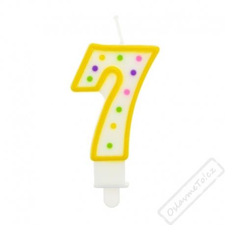Narozeninová svíčka na dort číslo 7