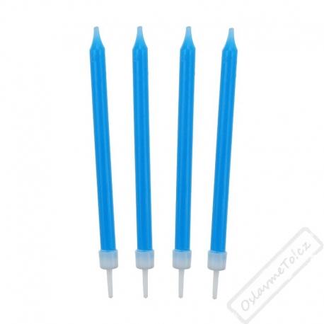 Barevné svíčky na dort modré