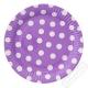Papírové party talíře s puntíky velké fialové