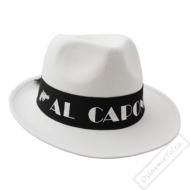 Gangsterský klobouk Al Capone bílý