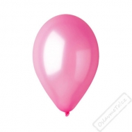 Metalický nafukovací balónek latex růžový