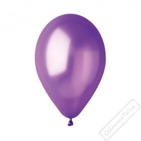Metalický nafukovací balónek latex fialový