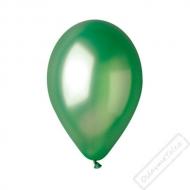 Metalický nafukovací balónek latex zelený