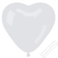 Nafukovací balónek latexový srdce bílé