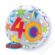 Nafukovací balón bublina s číslem 40