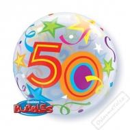 Nafukovací balón bublina s číslem 50