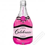 Nafukovací balón Šampus Celebrate Pink