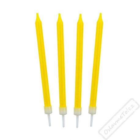 Barevné svíčky na dort žluté