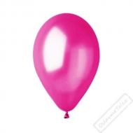Metalický nafukovací balónek latex fuchsiový