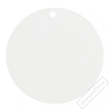 Kulaté papírové jmenovky bílé