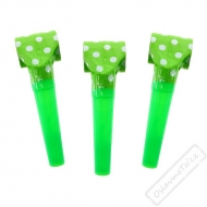 Narozeninová frkačka s puntíky zelená