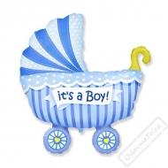 Nafukovací balón fóliový Kočárek Boy