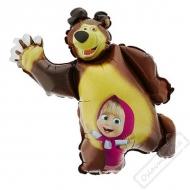 Nafukovací balón fóliový Máša a Medvěd