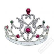 Korunka pro princeznu stříbrná s kamínky