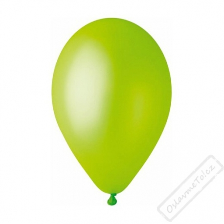 Metalický nafukovací balónek latex limetkový