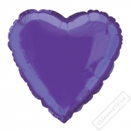 Nafukovací balónek fóliový Srdce fialové