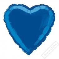 Nafukovací balónek fóliový Srdce modré