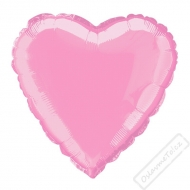 Nafukovací balónek fóliový Srdce růžové