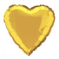 Nafukovací balónek fóliový Srdce zlaté