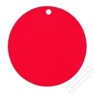Kulaté papírové jmenovky červené