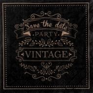 Papírové party ubrousky Vintage