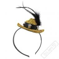 Party čelenka Cowboy zlatá