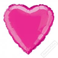 Nafukovací balónek fóliový Srdce fuchsiové