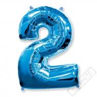 Nafukovací balón číslo 2 modrý 95cm