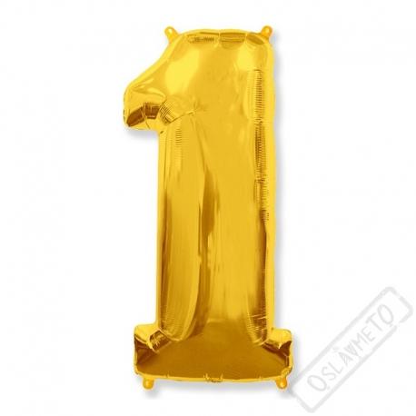 Nafukovací balón číslo 1zlatý 95cm