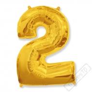 Nafukovací balón číslo 2 zlatý 95cm