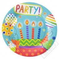Papírové party talíře Rainbow
