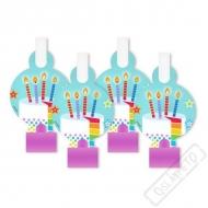Narozeninové papírové frkačky Rainbow