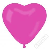 Nafukovací balónek latexový srdce fuchsiové