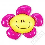 Nafukovací balón Květinka růžová 100cm