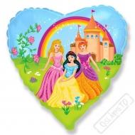 Nafukovací balónek Princezny v srdíčku 45cm