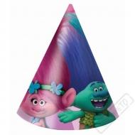 Papírové party kloboučky Trollové