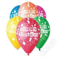 Latexový balónek s potiskem Birthday party