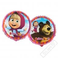 Nafukovací balónek Máša a Medvěd kulatý 45cm