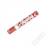 Vystřelovací konfety Srdíčka červená Metallic 40cm