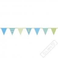 Party girlanda vlajky 1. narozeniny Blue